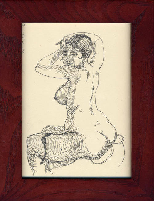 Tucking her Hair (Nude), Ronald Llanos