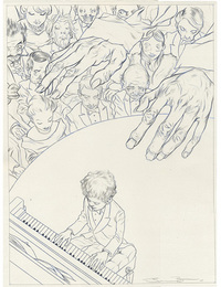 TOR Books Fingers Drawing, James Jean