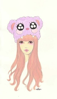 Purple Bear Hat, Esther Kim