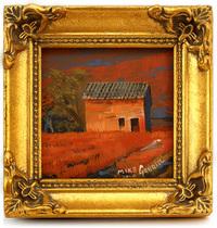 Italian Countryside with Orange Field, michael Gabriel
