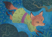 Kitsune on the run, Chuck Groenink