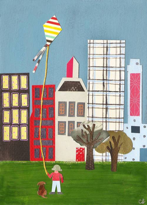 Kite's Flight in the City, Christina Song