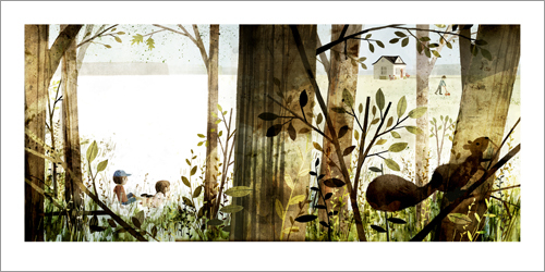 House Held Up By Trees - Page 05-06 (Squirrel), Jon Klassen