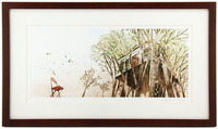 House Held Up By Trees - Pages 29-30 (House In Trees) Framed/Signed, Jon Klassen