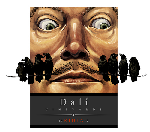 Dali Vineyards Wine Label, Nick Sadek