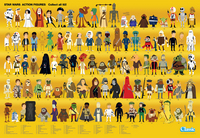 Star Wars - Action Figure Compendium Poster, Christopher Lee