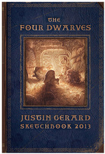 Justin Gerard Sketchbook 2013 The Four Dwarves, Justin Gerard