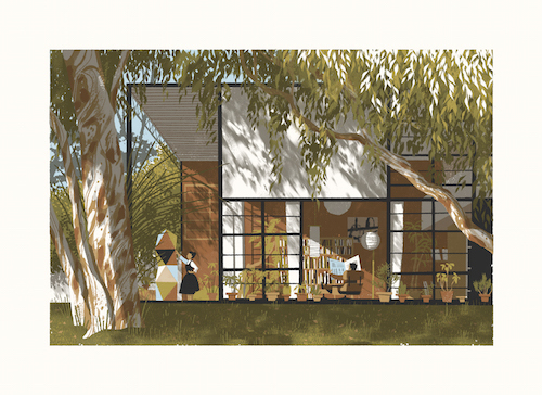 Eames House Unframed Silksreen Prints Chris Turnham