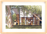 Eames House (framed), Chris Turnham