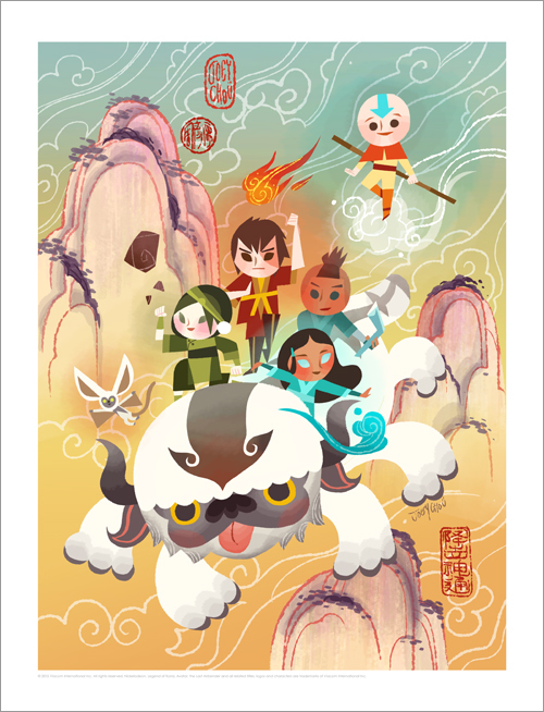 Masters of  Elements (print), Joey Chou
