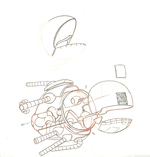 Spaceship Sketch (Smek pg 299) Unframed, Adam Rex