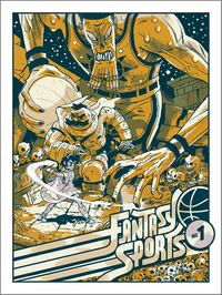 Fantasy Sports Silkscreen print, Sam Bosma