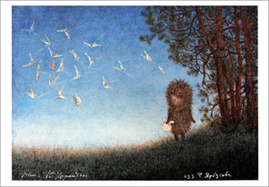 Hedgehog and Butterfiles (unframed), Yuri Norstein