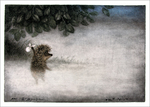 Hedgehog Entering the Fog (unframed), Yuri Norstein