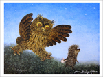 Hedgehog & Creeping Owl (unframed), Yuri Norstein