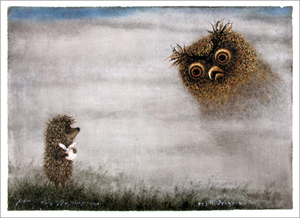 Hedgehog and Owl (unframed), Yuri Norstein