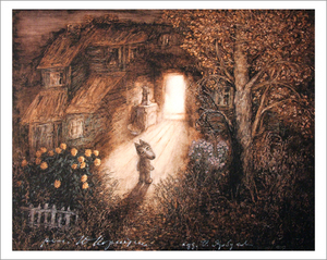 Tale of Tales - Little Wolf Lit Doorway (unframed), Yuri Norstein