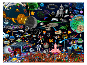 Pixels in Space - Limited Edition Print, Roger Barr