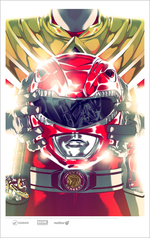 Red Ranger with Dragon Armor Cover , Goni Montes