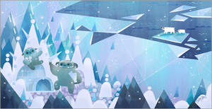 Monster & Son (Yeti) print, Joey Chou