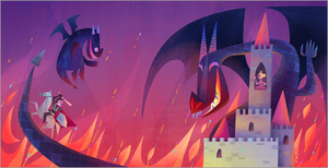 Monster & Son (Dragons) print, Joey Chou