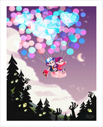 Waddles Takes Flight (print), Tara Nicole