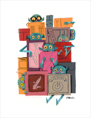 Boxes! (print), Oliver Akuin