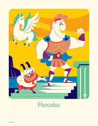 Cyclops Print Works #60: Dave Perillo (print) - Hercules Limited Edition of 95, Hercules