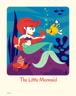 Cyclops Print Works #58: The Little Mermaid - Dave Perillo (print) Limited Edition of 95, The Little Mermaid