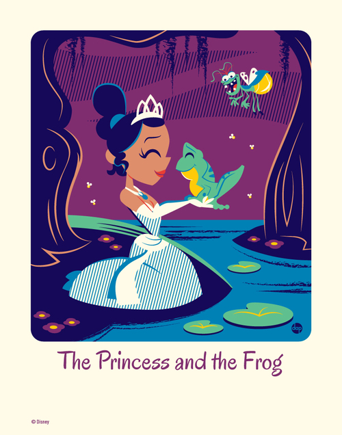 Cyclops Print Works #62: The Princess and the Frog - Dave Perillo (print) Limited Edition of 95, Princess and the Frog