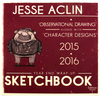 Observational Drawings Along with Character Designs (2015 - 2016), Jesse Aclin