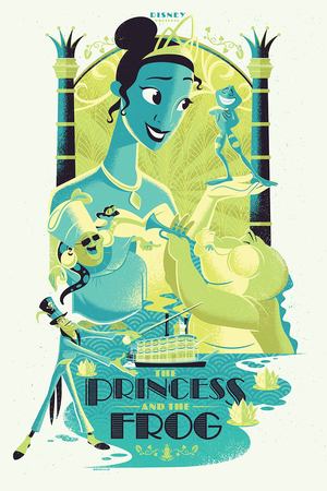 Cyclops Print Works #55: The Princess and the Frog VARIANT Edition - Josh Holtsclaw (print) Limited Edition of 50, Princess and the Frog
