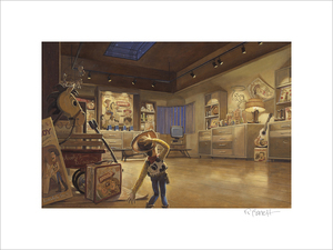 Woody in Al's Display Room by Randy Berrett (Toy Story 2)