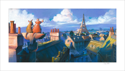 Remy and Emile, Paris Morning by Dominique R. Louis (Ratatouille)