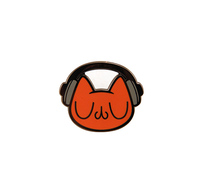 Headset Cat (enamel pin), cmykevin