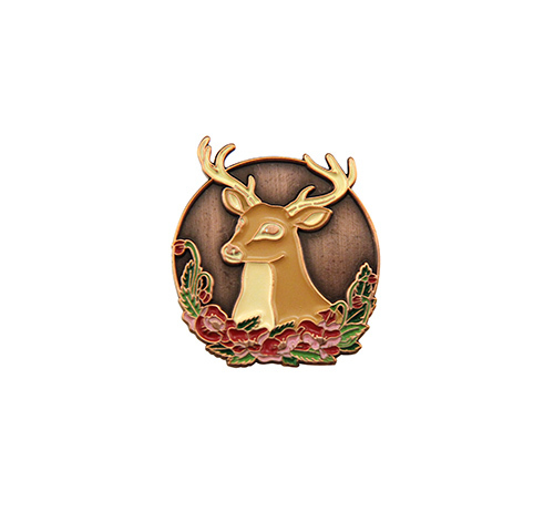 Poppy Deer Pin