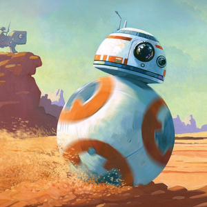 BB-8 on the run! Exhibition & Book Signing