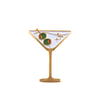 The Betty (martini enamel pin)