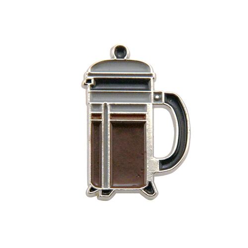 French Press Enamel Pin
