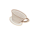 Wave Coffee Cup Enamel Pin