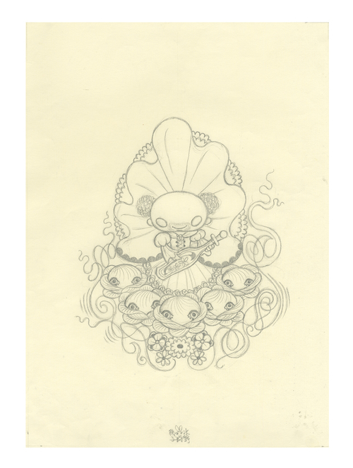 Ravina Back Cover: Pencil Drawing (Unframed), Junko Mizuno
