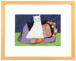 White Cat (Framed), Mary Blair