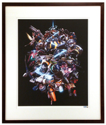 """The Art of Overwatch Cover"" by Arnold Tsang Printer's Proof (FRAMED), Blizzard Entertainment"