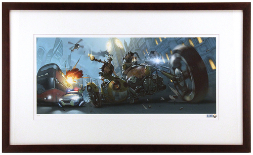 """Junkrat & Roadhog"" by Arnold Tsang Printer's Proof (FRAMED), Blizzard Entertainment"