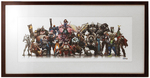 """Hero Lineup"" by Arnold Tsang Printer's Proof (FRAMED), Blizzard Entertainment"