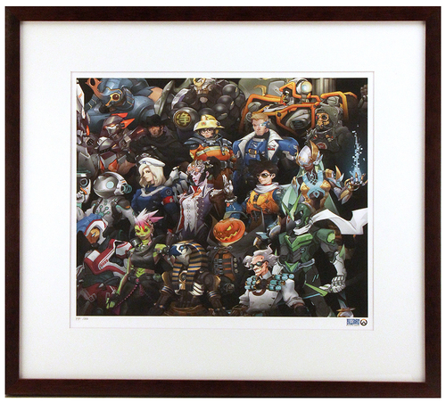 """Legendary Heroes"" by Various Overwatch Team Artists Printer's Proof (FRAMED), Blizzard Entertainment"