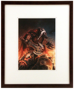 """Pandyr & Dead Fire Giant"" Artist Proof (FRAMED), Samwise Didier"