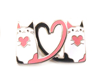 Kitty Buddies Enamel Pin (Crowded Teeth), Crowded Teeth
