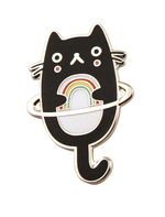 Rainbow Cat Planet Pin, Crowded Teeth