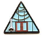A-Frame Cabin (Mid Mod Pin)